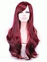 europe et aux etats-unis vin rouge 26 pouces haute temperature cheveux boucles perruque de soie
