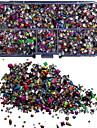 5000st blanda färgglada dubbar rviets box nagel konst dekoration