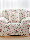 tryckta tätt allomfattande soffa handduk möbelöverdrag fyra säsonger halkfri tyg elastisk soffa täcka (rosa blommor)
