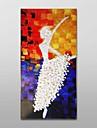 ulei de pictat manual pictura acestea groase textură balet fată decor cu cadru alungit