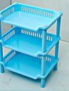 bureau Rack carre cuisine salle de bain en plastique de stockage en rack a trois couches