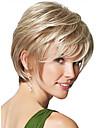 naturlig blond rak kort peruk för kvinna mode peruker