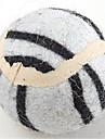Hundleksak Husdjursleksaker Boll Musleksak Tennisboll Tyg Vit Gul Brun