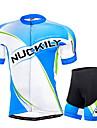 NUCKILY® Maillot et Cuissard de Cyclisme Homme Manches courtes VeloRespirable / Resistant aux ultraviolets / Bandes Reflechissantes /