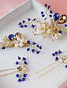 Women\'s Alloy / Imitation Pearl Headpiece-Wedding / Special Occasion Hair Pin 4 Pieces