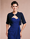 Women\'s Wrap Shrugs Half-Sleeve Chiffon Dark Navy Wedding / Party/Evening