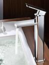 Contemporain Montage Valve en ceramique Mitigeur un trou with Chrome Robinet lavabo