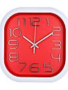 Carre Moderne/Contemporain Horloge murale,Autres Plastique 30*30*4.8