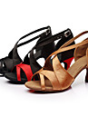 Chaussures de danse(Noir / Marron / Rouge / Blanc / Or / Multicolore) -Personnalisables-Talon Personnalise-Satin / Similicuir-Latine