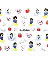 10pcs belle la princesse une serie d\'art d\'ongle car la colle des autocollants 3d en applique