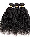 3 faisceaux / extension de beaucoup 150g non transformes vierge peruvienne crepus boucles humaine de cheveux