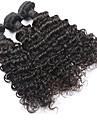 """3 st lot 8 """"-30"""" malaysiska jungfru hårfärg # 1b naturlig våg brasilianska lockigt människohår buntar"""