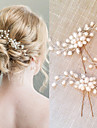 Women\'s Pearl / Crystal Headpiece-Wedding / Special Occasion Jewelry Hair Stick   2 Pieces