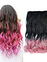 18 tum ombre färg kroppen våg fluffigt hår syntetisk förlängning