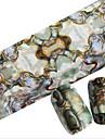1st 100cmx4cm glitter spik foliedekal vacker fjäder vackra tecknad läppar nageldekorationer diy skönhet stzxk06-10