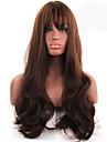 kvinnors fashionabla brun färg lång längd högsta kvalitet syntetiska peruker
