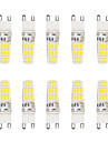 5W G9 LED a Double Broches T 16 SMD 5730 300 lm Blanc Chaud / Blanc Froid Etanches V 10 pieces