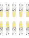5W G9 LED-lampor med G-sockel T 16 SMD 5730 300 lm Varmvit / Kallvit Vattentät V 10 st
