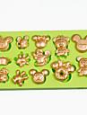 Moule de Cuisson Cartoon 3D Pour Gateau For Chocolate Pour Tarte Silikon Ecologique Bricolage Vacances