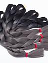 Grey Gradient Box Braids twist Flätor Hårförlängningar 20inch Kanekalon 3 Strå 100G gram Hair Braids