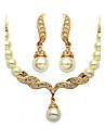 Pentru femei Seturi de bijuterii Design Basic Imitație de Perle de Mireasă Imitație de Perle Bijuterii Σκουλαρίκια Lănțișor PentruNuntă
