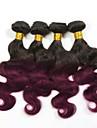 4 Pieces Ondulation naturelle Tissages de cheveux humains Cheveux Bresiliens Tissages de cheveux humains Ondulation naturelle