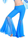 Belly Dance Bottoms Women\'s Training Polyester Draped 1 Piece  Belly Dance Sleeveless Natural Pants