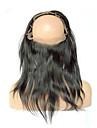 """12""""-18"""" Naturlig svart (#1B) Spetsfront / Handknuten Kroppsvågor Mänskligt hår Stängning Medium Brun Fransk spets 75g-100g gram MedelCap"""