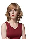 elegant cheveux humains courte pelucheux pour les femmes en couches a la mode des perruques de style europeen