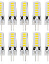 2W G4 LED a Double Broches T 12 SMD 5733 180 lm Blanc Chaud / Blanc Froid Decorative DC 24 V 10 pieces