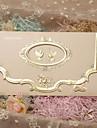 Împăturit în 3 Invitatii de nunta 50-Invitații Stil Clasic Hârtie Perlă