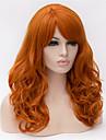Europa och Förenta staterna 22 tum lång lockig peruk apelsin stort hår