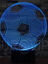 5v illusion 3d 0.5w conduit lampe de nuit avec une forme de football avec de la lumiere 7 couleurs