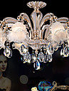8 Lights Modern Simple European Style Chandeliers Flowers Crystal  LED Pendant Lights