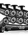Zosi @ 8ch 1080p AHD dvr 8xoutdoor 2,0 MP vattentät IR-kula kamera säkerhet kit CCTV-system