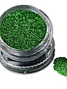 1 Bottle Nail Art Laser Green Glitter Shining Powder Manicure Makeup Decoration Nail Beauty L05