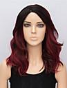 50cm perruques noires et moyennes bourgogne couleur ombre synthetiques resistantes boucles perruques de partie synthetique 2016 nouvelle