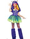 Costumes de Cosplay Monstre Cosplay de Film Vert Mosaique Robe / Jambieres / Chapeau Halloween / Noel / Nouvel an Feminin Fourrure