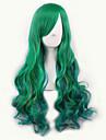 vert lolita / jaune ombre perruque     perruques synthetiques naturels resistant a la chaleur perruques perruque cosplay