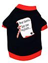Chat Chien Tee-shirt Noir Vetements pour Chien Ete Printemps/Automne Lettre et chiffre Noel