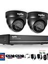 sannce® 4ch 720p DVR övervakningssystem med 4HD 1280 * 720tvl utomhus övervakningskameror