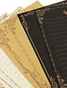 8 retro-tetes de papier kraft (couleurs aleatoires)