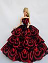 Princesse Robes Pour Poupee Barbie Rouge / Noir Robes Pour Fille de Doll Toy