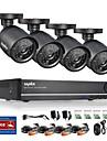 annke 8ch 960h CCTV-system vattentät videokamera 900tvl övervaknings kit hem säkerhet kameran