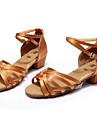 Chaussures de danse(Noir Marron Argent Or Leopard) -Non Personnalisables-Talon Personnalise-Satin Similicuir-Latine