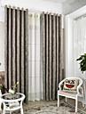 Deux Panneaux Moderne Feuille Cafe Chambre a coucher Melange Poly/Coton Rideaux occultants rideaux