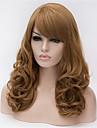 Europa och USA stora brun peruk lin volym 22 tum långt lockigt hår