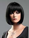 perruque courte bob de droite noire de la mode femme