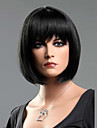 svart rakt mode kvinnans kort bob peruk