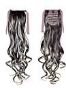 """22 """"(55cm) 100g longs boucles sl vague ruban ponytails # 6 clips dans les extensions de cheveux queue de cheval accessoires postiche"""
